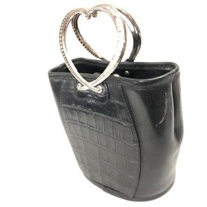 BRIGHTON Bucket Bag w/ Heart Shape Handles